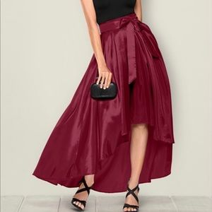 Dresses & Skirts - Plus-BELTED HIGH LOW SKIRT